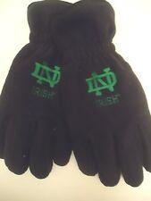 NCAA Notre Dame  Fighting Irish Mens Fleece Gloves NCAA,Navy,L/XL