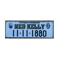 Novelty Number Plate - Ned Kelly 11-11-1880 Australia Bushranger Aluminium Sign