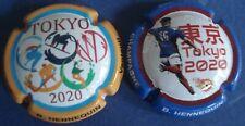lot de 2 capsules de champagne B.HENNEQUIN n°90&90a Tokyo 2020 1000ex.numérotées