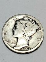 Semi Key 1936 D 1937 D 1938 D 1939 D Mercury Dimes 4 Great Coins