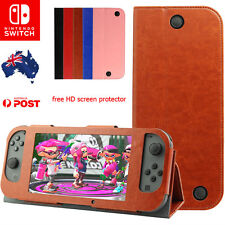 Nintendo Switch Full Leather Cover Flip Case Shell Holder Free Screen protector