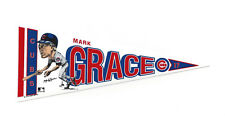 "1990 Mark Grace Chicago Cubs 7"" decal pennant Salem rare"