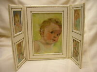 Vintage Photograph Art By Florence Kroger Soft Fold Frame My Baby Book In Box