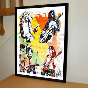 Led Zeppelin Plant Page Jones Bonham Rock Music Poster Print Art 18x24