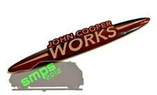 Mini R53 JCW Custom John Cooper Works Badge Black & Grey 134mm x 25mm *SMPS2012*