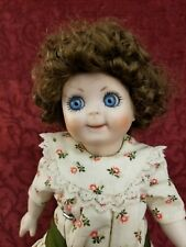 Vintage JDK 221 Repro Googlie Googly All Bisque Strung Doll 12 inches Set Eyes