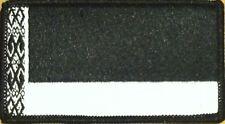 BELARUS Flag Patch With VELCRO® Brand Fastener Black & White BLACK Border #2