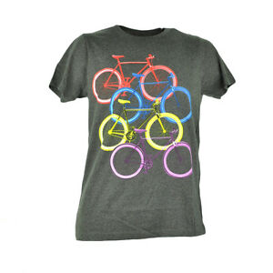 Fifth Foundation Fixies Fixed Gear Colored Bikes Bicycle Grey Tshirt Tee