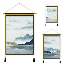 Chinese Landscape Wall Art Scrolls Hanging Printed Tapestry Decor Fengshui
