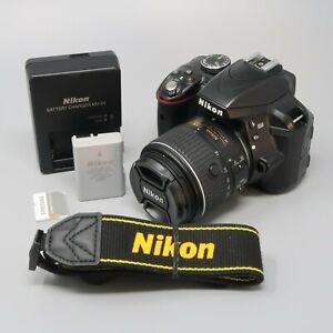 Nikon D3300 DSLR Camera - Black (Kit w/ AF-S DX VRII 18-55mm Lens) - 12K Clicks