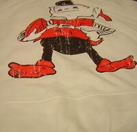 Cleveland Browns Brownie Elf Gildan White Hoodie Large
