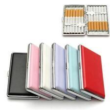 Pocket Cigaret Box Case Faux Leather Slim Cigarette Roll Up Holder Protector