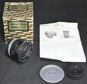Nikkor-UD Auto 20mm f/3.5 Ultra Wide Angle Camera Lens - Nikon - NICE