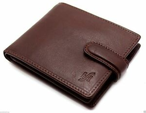 STARHIDE Real Leather Mens RFID Wallet Credit Card Holder Coin Pouch 1212 Brown