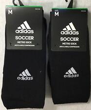 Adidas 2-Pk Adult Soccer Metro OTC Compression Crew Socks 5137769C Black Size M