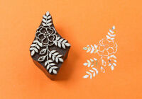 Small flower Wood Printing Block Floral Stamp Indian Wooden Textile Stamps
