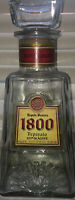 TEQUILA RESERVA 1800 REPOSADA Empty 750ML bottle with Glass Stopper