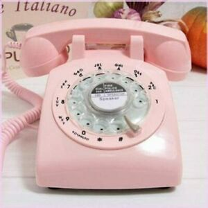 Pink Rotary Dial Phone Retro Telehone Vintage Collectors Birthday Gifts Pin Up