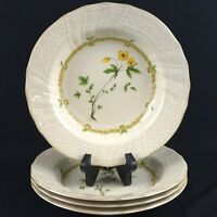 "Set of 4 VTG Rim Soup Bowls 9"" by Mikasa Fine Ivory China Royalty Floral Japan"