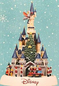 Animated Disney Castle Shown Lit Lights and Music Xmas Decoration Present 2021
