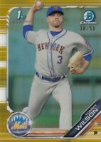2019 BOWMAN CHROME GOLD REFRACTORS /50 RC 1ST TOMMY WILSON NEW YORK METS C3360