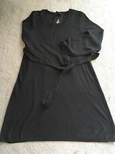 NWOT H&M MAMA Maternity Black long sleeve dress with Tie UK S RRP £29.99