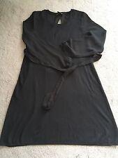 NEUF sans étiquette h&m mama maternité noir habillée à manches longues avec cravate UK S RRP £ 29.99