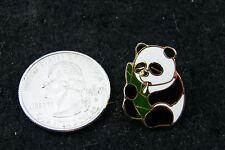 PANDA EATING GREEN LEAF PIN
