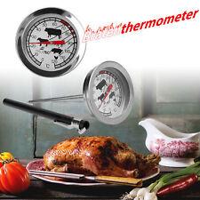 Thermometer BBQ Grill Fleisch Fleischthermometer Backofenthermometer analog