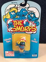 Smurfs Hula Smurfette 20231 Smurf Hawaiian Lei Vintage Figure PVC Toy Figurine
