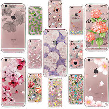 Funda Carcasa Clear Pattern Soft TPU Case Cover For iPhone 4s 5s 6s 7 PLUS SE 5c