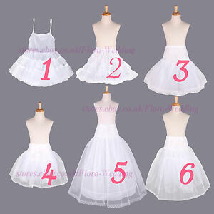 Flower Girl Net Prom Underskirt/Bridesmaid Hoop Crinoline/Communion Petticoat
