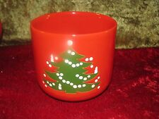 Waechtersbach Christmas Tree Red Green Germany Cookie Jar wo Lid 4 1/2""