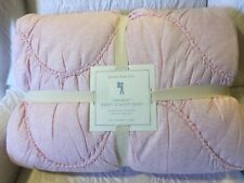 pottery barn kids Twin Jersey Scallop pink Quilt scalloped quilted design soft