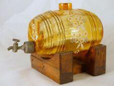 Superbe ancien petit Tonneau Emaillé LEGRAS? Antique Grench Enamel Barrel 1900