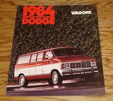 Original 1984 Dodge Wagon Sales Brochure 84 Ram B150 B250 B350