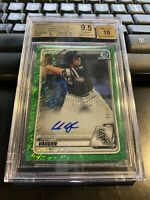Andrew Vaughn 2020 Bowman Chrome Green Shimmer Refractor Auto #'d 99 BGS 9.5/10