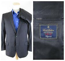 Brooks Brothers 1818 Pinstripe Chalkstripe Wool Suit Size 44R Pants 39 X 29