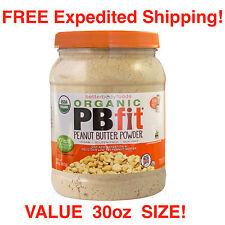 PB fit - Peanut Butter Powder USDA ORGANIC - Gluten Free Just Add Water - 30 oz