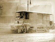 """1910 Snow Plow During a Storm, New York City, NY Old Photo 8.5"""" x 11"""" Reprint"""