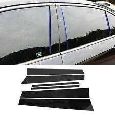 Black Pillar Posts 6pcs Cover Door Trim Window Decal For Honda Accord 2008-2012
