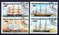 Bateaux Haute Volta (35) série complète de 4 timbres oblitérés