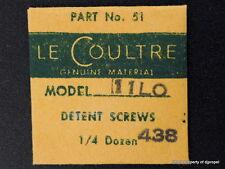Jaeger LeCoultre Set Lever Screws for Vintage LeCoultre Cal.438!  11L0