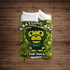 A Bathing Ape Hulk Baby Milo Fannel blanket green Tide Brand bed blanket Marvel