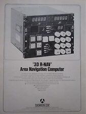 10/1973 PUB THOMSON-CSF AVIONIQUE 3D R-NAV AREA NAVIGATION COMPUTER ORIGINAL AD