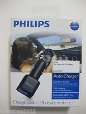 PHILIPS DLA72004/17 Auto Charger USB Charging FACTORY SEALED