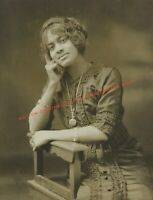 Vintage Old 1920's Photo Print of a Pretty African American Black Woman Girl