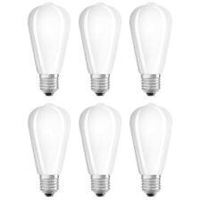 6 x OSRAM LED FILAMENTO st64 Edison 4,5w = 40w e27 OPACA 470lm bianco caldo UVP ...