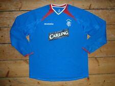 Größe: XL Glasgow Rangers Fußballtrikot 2003-04 Verdreifachen Gewinner Fußball