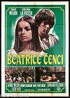 BEATRICE CENCI MANIFESTO CINEMA TOMAS MILIAN LUCIO FULCI 1969 MOVIE POSTER 4F